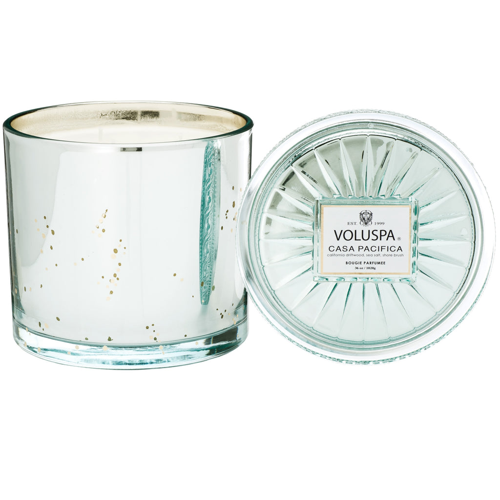 Grande Maison 3 Wick Glass Candle in Casa Pacifica design by Voluspa