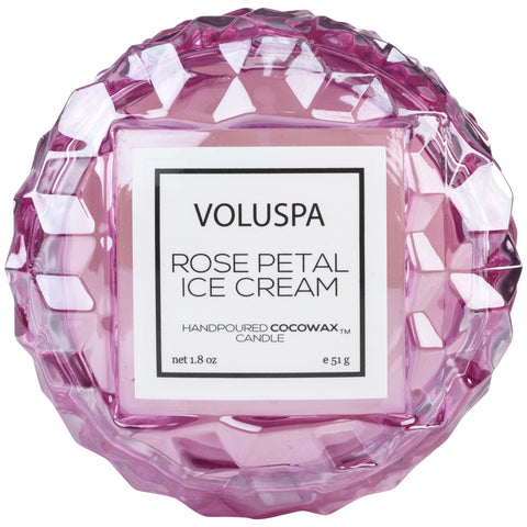 Macaron Candle in Rose Petal Ice Cream design by Voluspa