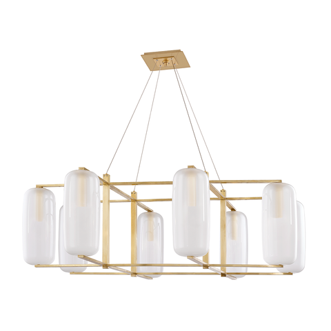 Pebble 8 Light Chandelier by Hudson Valley