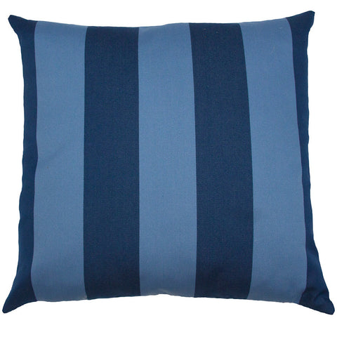 Bahamas Blue Stripe Pillow  in various sizes design by Square feathers