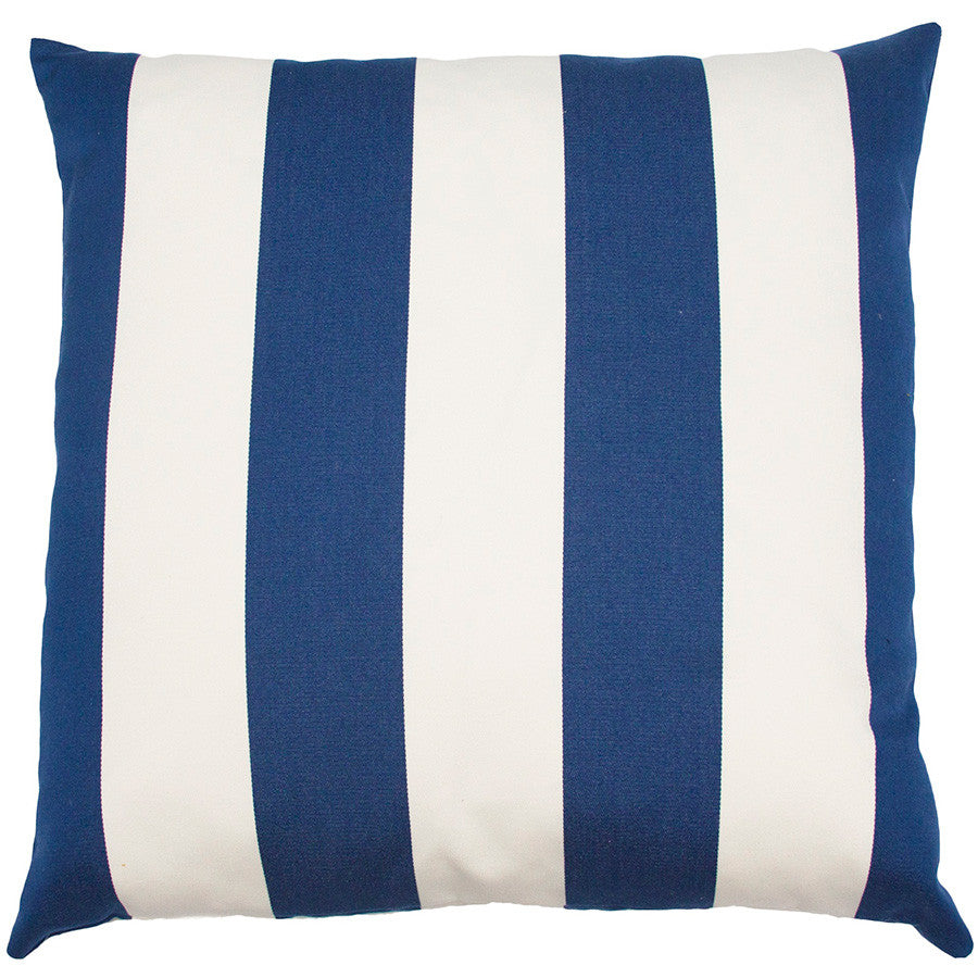Bahamas Ivory Stripe Pillow  in various sizes design by Square feathers