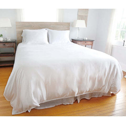 Parker Bamboo Duvet Set in White by Pom Pom at Home