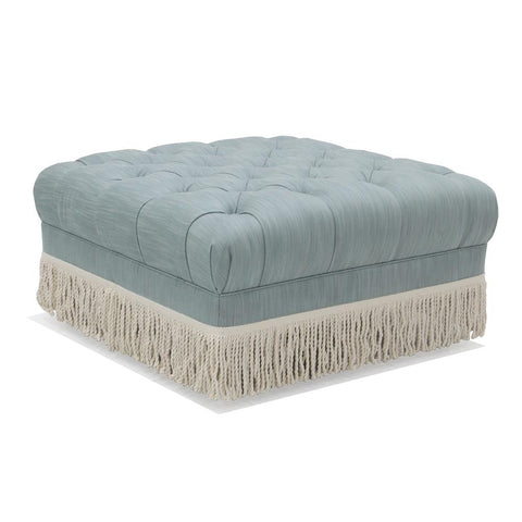 Baxter Ottoman with Bullion Fringe by Jonathan Adler
