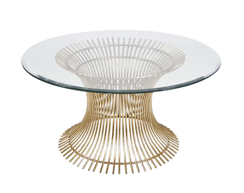 Gold Leaf Coffee Table Base Only