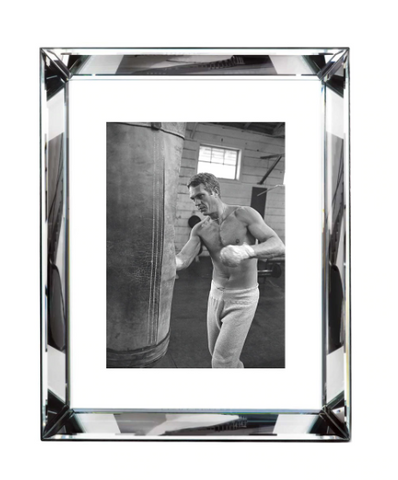 Steve McQueen Boxing in Black and White Print