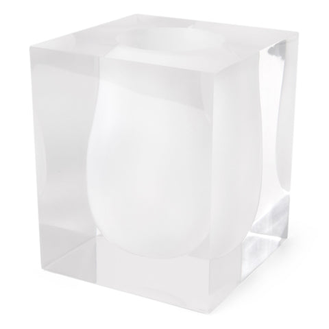 Bel Air Scoop Vase in White