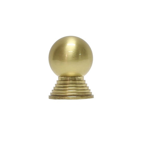 Betsy Simple Round Knob w/ Tiered Stem in Antique Brass design by BD Studio