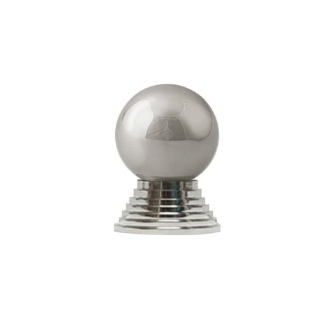 Betsy Simple Round Knob w/ Tiered Stem in Nickel design by BD Studio