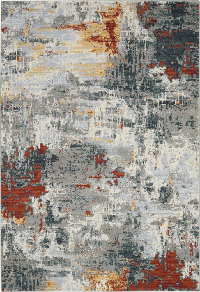 Artworks Rug in Slate/Brick by Nourison