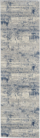 Rustic Textures Rug in Ivory/Blue by Nourison
