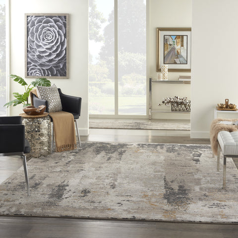 Tangra Rug in Cream Grey by Nourison
