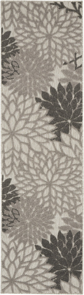 Aloha Indoor-Outdoor Rug in Silver Grey by Nourison