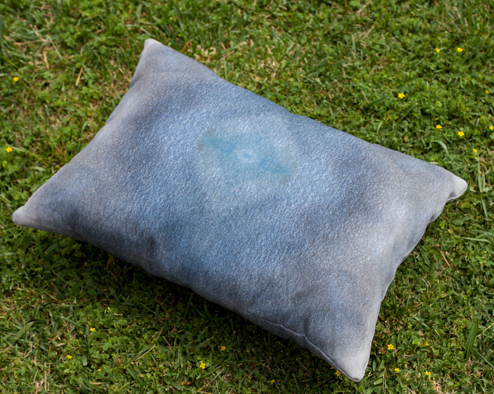 Blue Eye Outdoor Throw Pillow