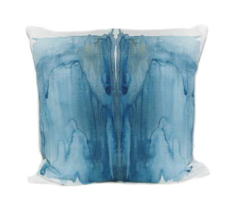 Blue Moth Outdoor Throw Pillow designed by elise flashman