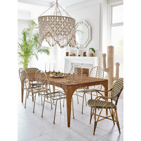 Pinnacles Dining Table - Natural Teak by Selamat