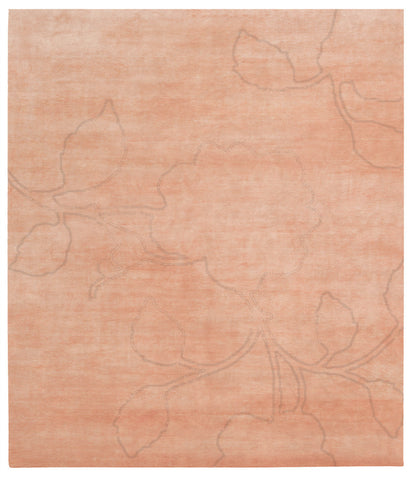Bellagio Ruby Hand Knotted Rug in Orange design by Second Studio