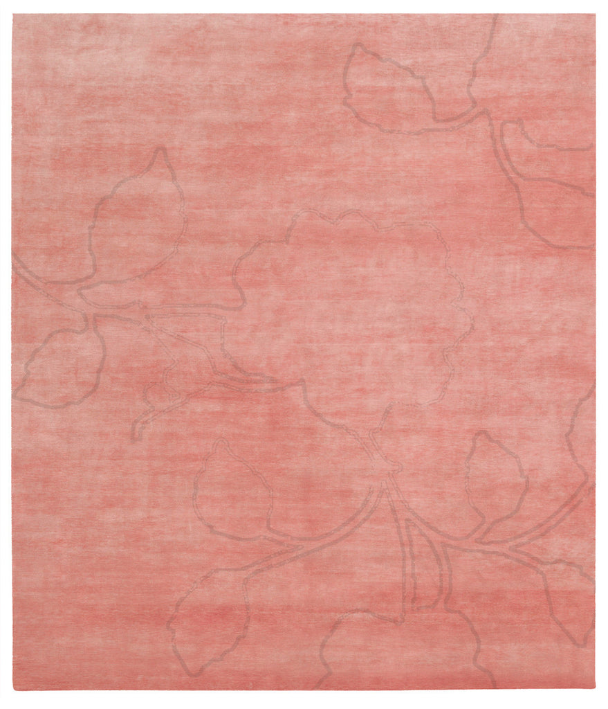Bellagio Ruby Hand Knotted Rug in Red design by Second Studio