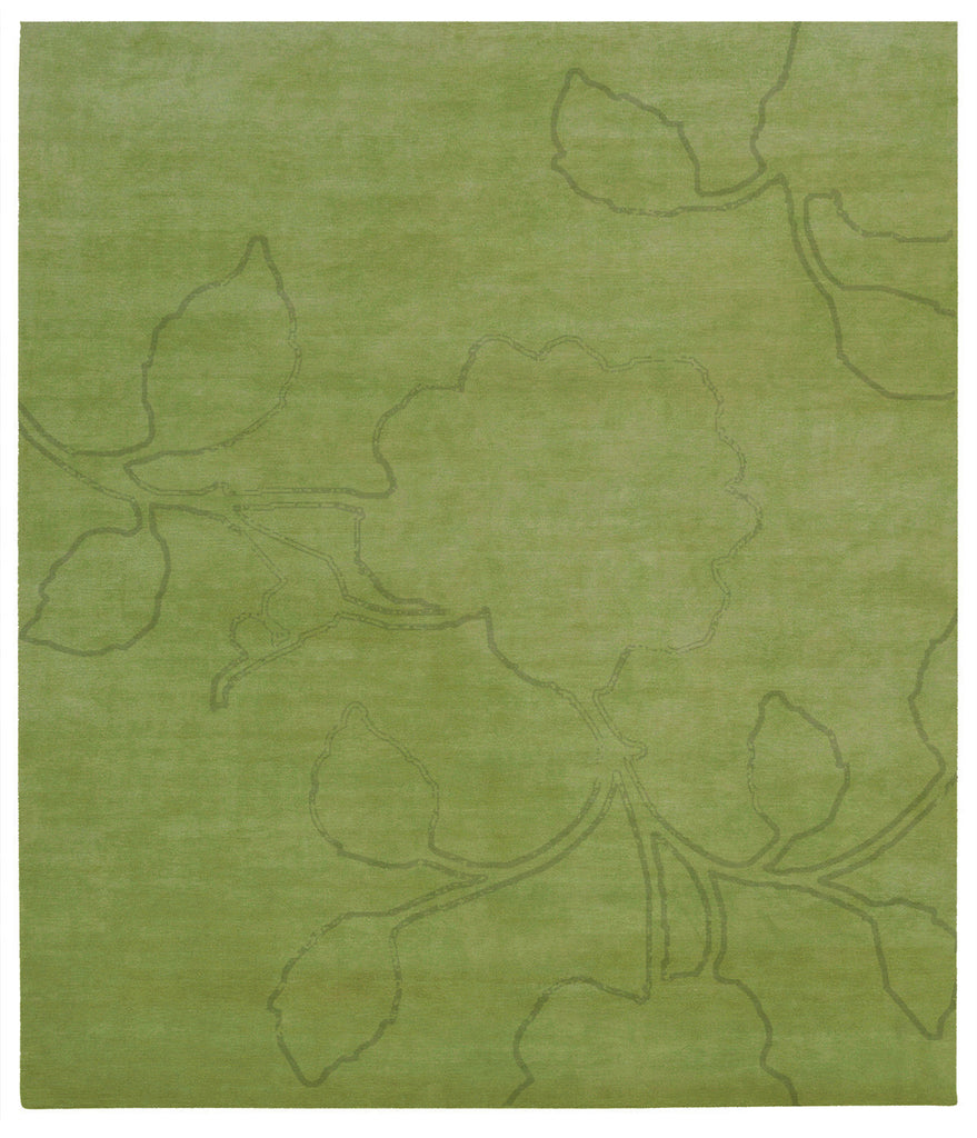 Bellagio Ruby Hand Knotted Rug in Green design by Second Studio