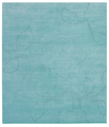 Bellagio Ruby Hand Knotted Rug in Light Blue design by Second Studio