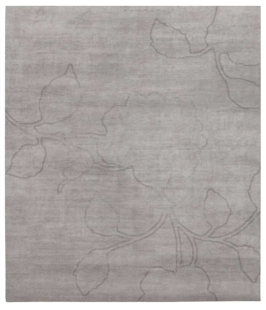 Bellagio Ruby Hand Knotted Rug in Grey design by Second Studio