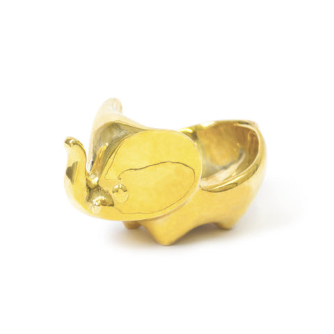 Brass Elephant Ring Bowl