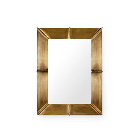 Brea Mirror in Antique Brass design by Bungalow 5