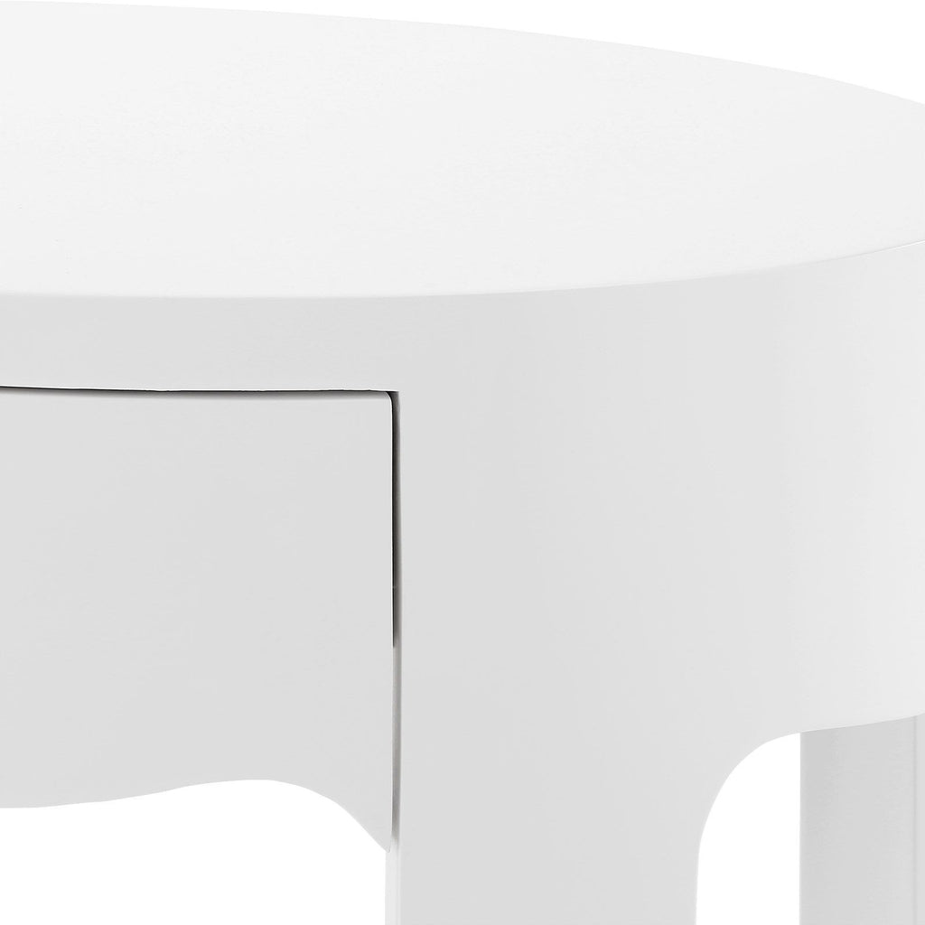 Brigitte Single Drawer Oval Table design by Bungalow 5