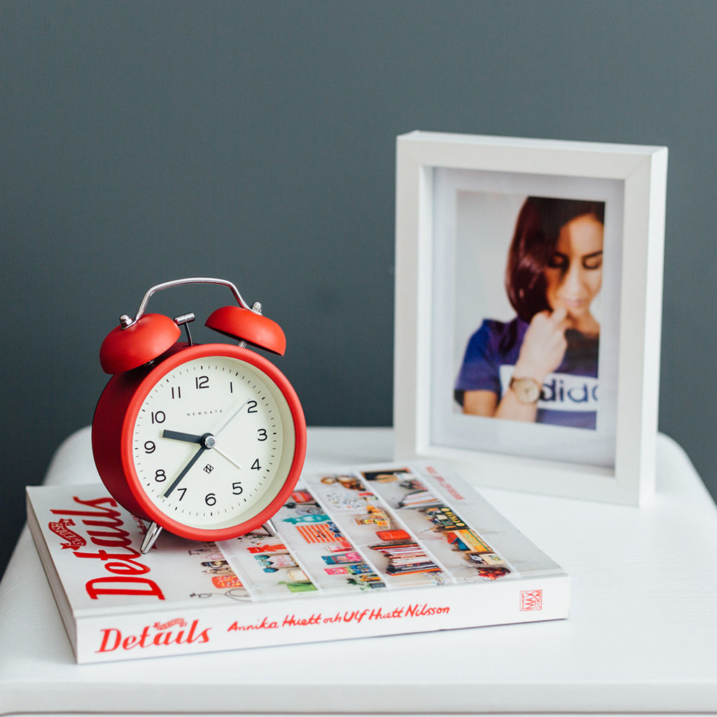 Charlie Bell Echo Alarm Clock in Fire Engine Red