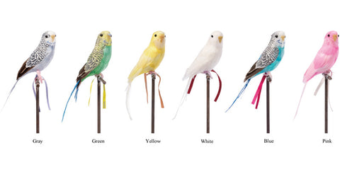 Artificial Birds Budgie Gray