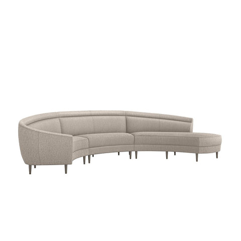 Capri Right Chaise 3 Piece Sectional in Various Colors Design by Interlude Home