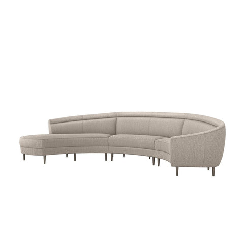 Capri Left Chaise 3 Piece Sectional in Various Colors Design by Interlude Home