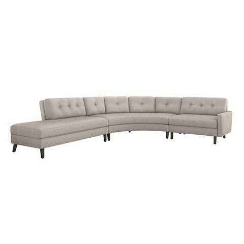 Aventura Left Chaise 3 Piece Sectional in Various Colors Design by Interlude Home