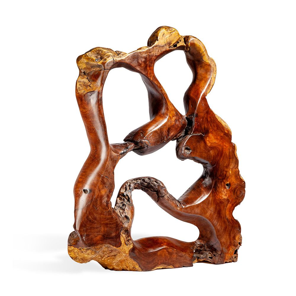 Burstyn Teak Root Sculpture in Various Sizes by Interlude Home