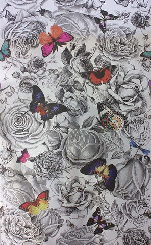 Butterfly Garden Wallpaper from the Enchanted Gardens Collection by Osborne & Little