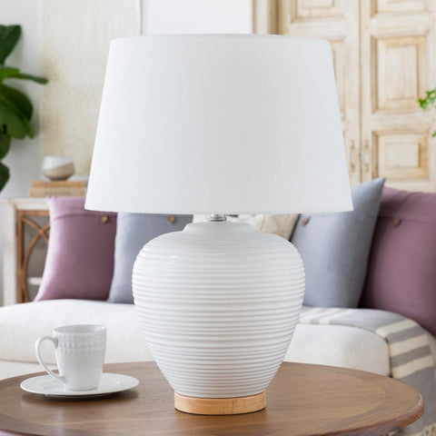 Bixby Table Lamp in White design by Surya