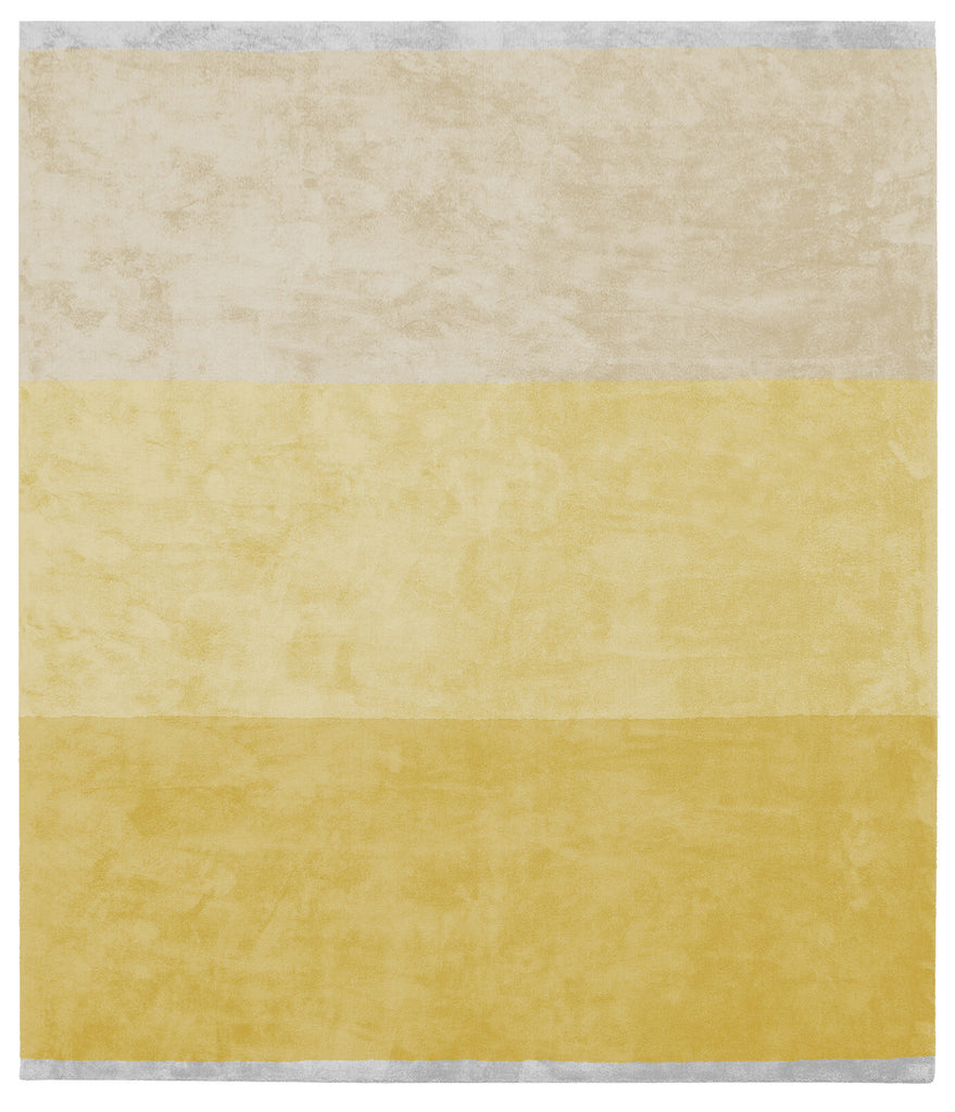 Byred Yama Hand Knotted Rug in Yellow design by Second Studio