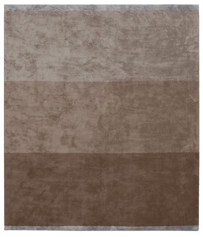 Byred Yama Hand Knotted Rug in Brown design by Second Studio