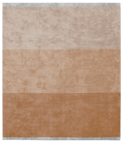Byred Yama Hand Knotted Rug in Orange design by Second Studio