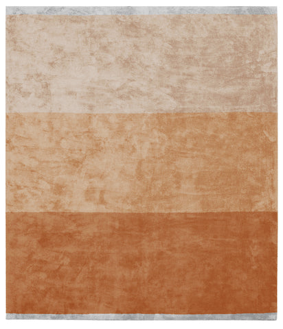 Byred Yama Hand Knotted Rug in Dark Orange design by Second Studio