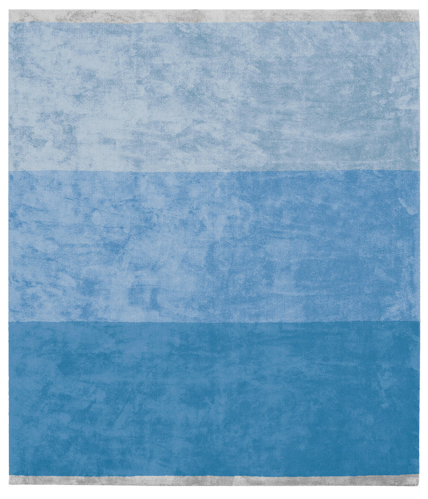 Byred Yama Hand Knotted Rug in Light Blue design by Second Studio