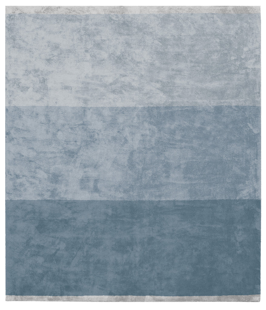 Byred Yama Hand Knotted Rug in Dark Blue design by Second Studio