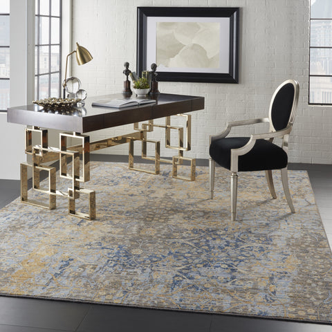 Majestic Rug in Beige/Blue by Nourison