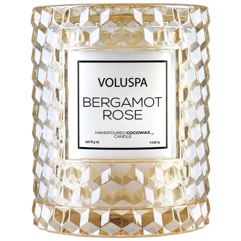 Icon Cloche Cover Candle in Bergamot Rose design by Voluspa