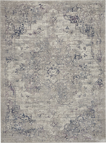 Royal Terrace Rug in Beige & Blue by Kathy Ireland