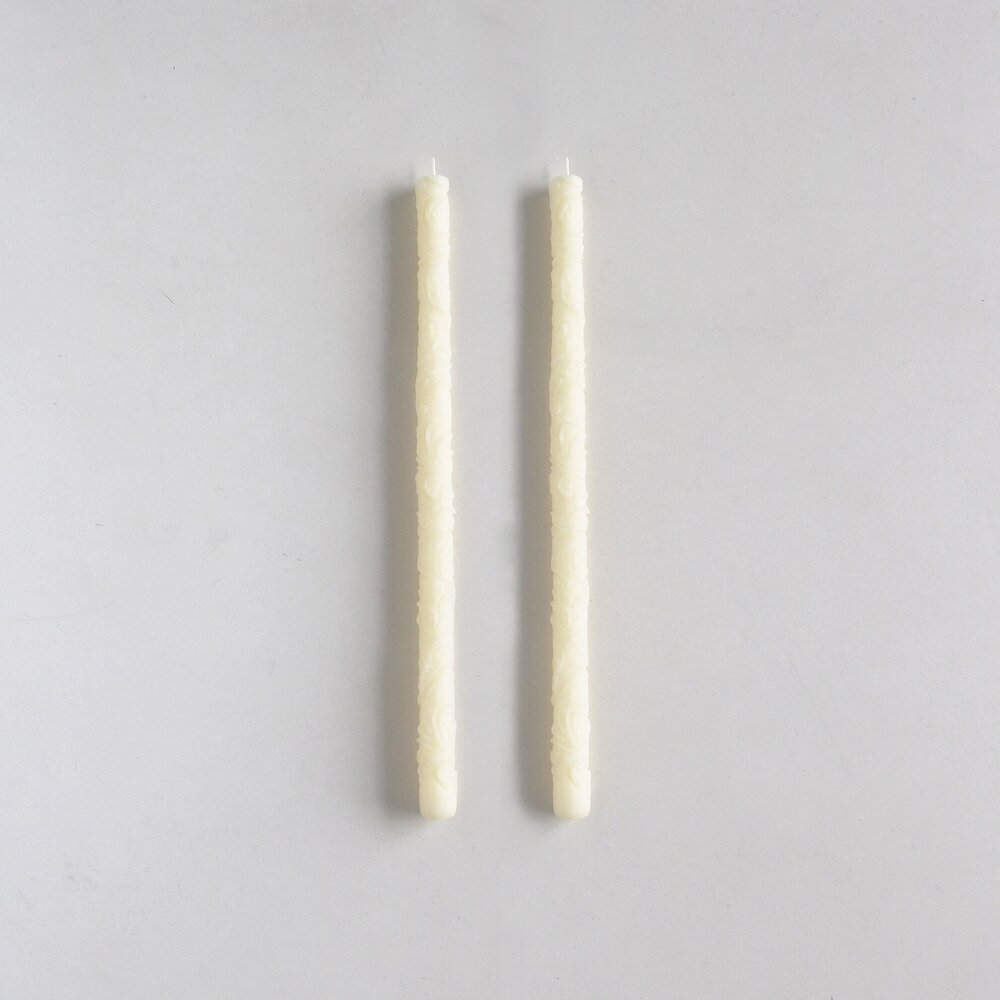Beeswax Taper Candles by borrowed BLU