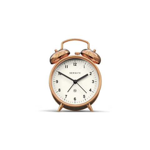 Charlie Bell Alarm Clock in Radial Copper design by Newgate