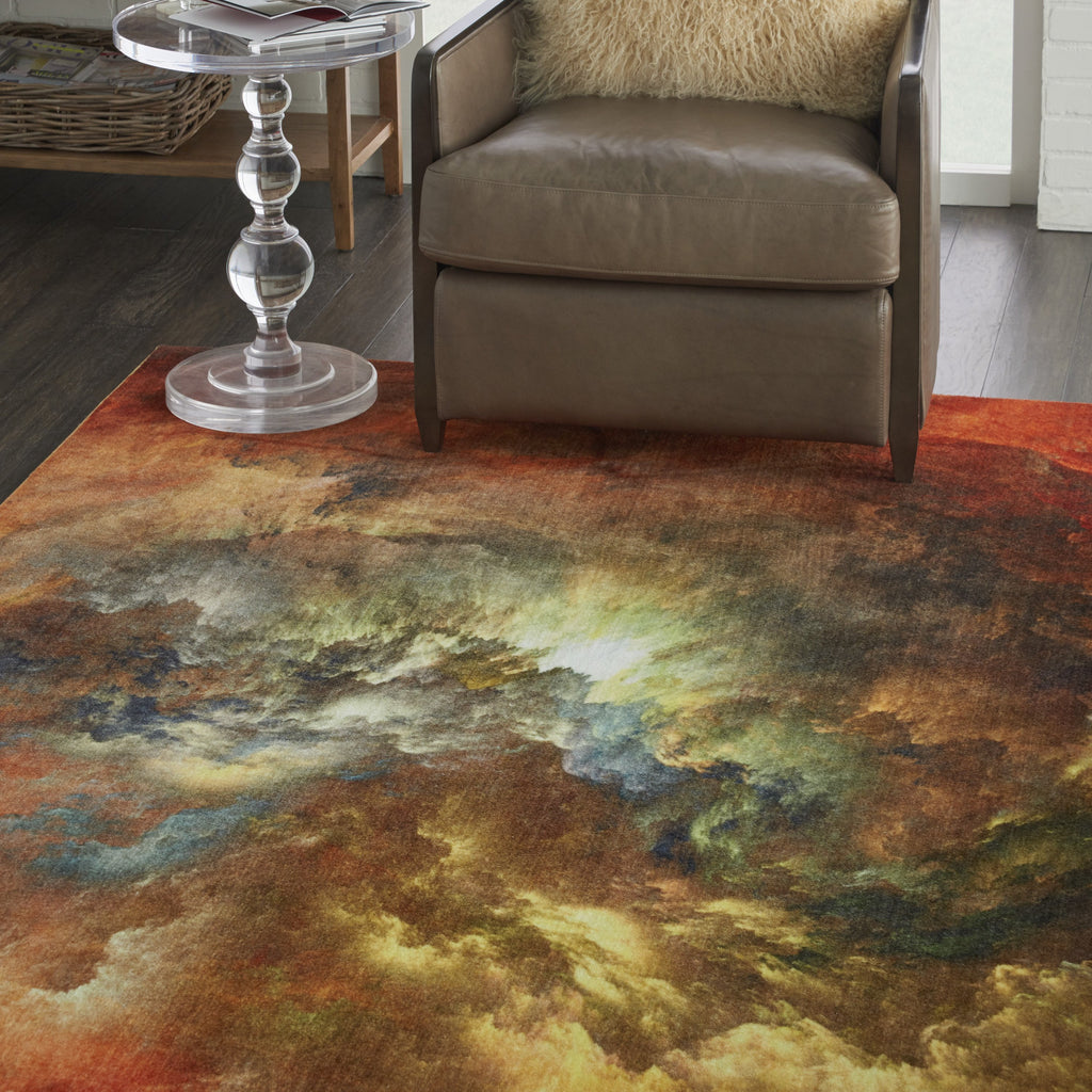 Le Reve Rug in Red/Multicolor by Nourison