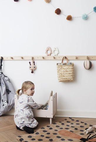 Pieni Coat Rack in Black by OYOY
