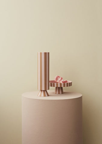 Toppu High Vase in Rose by OYOY
