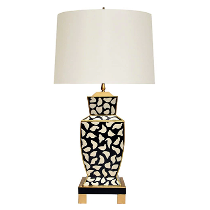 Hand Painted Urn Table Lamp in Various Colors